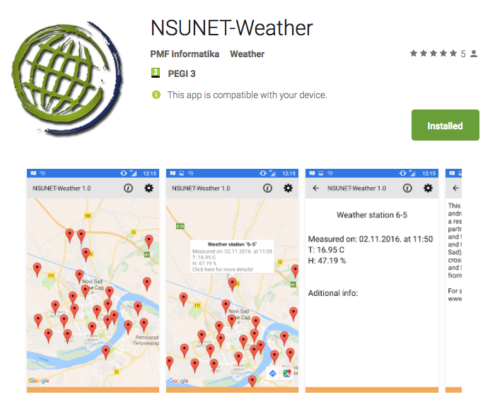 NSUNET-Weather app