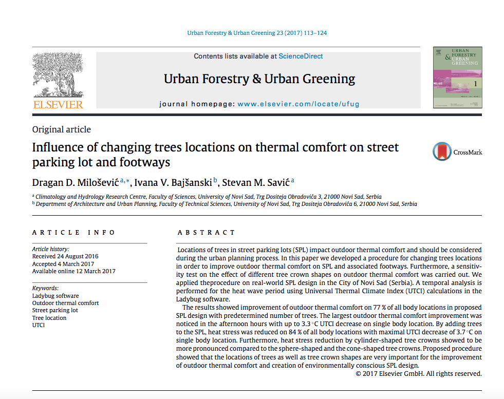 Dragan Milosevic-Urban Forestry paper